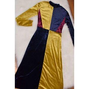 Zara long colorblock  dress